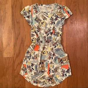 LulaRoe Toddler Mickey Mouse Comic Mae Dress